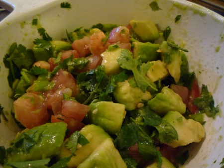 The finished salsa