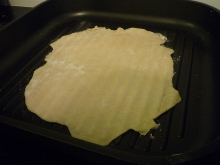 Cooking the tortillas